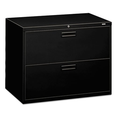 HON 582LP 500 Series 36 by 28-3/8 by 19-1/4-Inch 2-Drawer Lateral File, Black (1 Drawer Lateral File Cabinet)