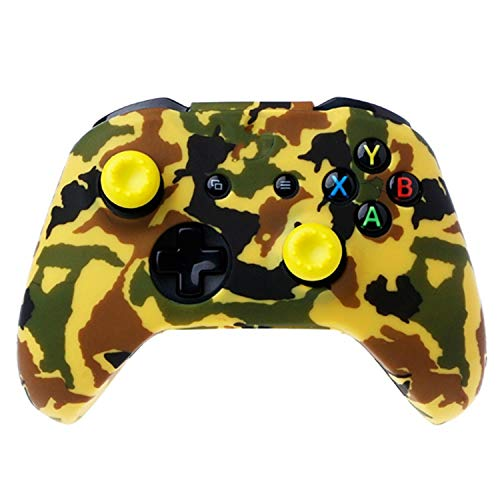 Silicone Protective Skin Case Water Transfer Printing Camouflage Cover Grips Caps for XBox One X S Controller Protector,4NB500107-7