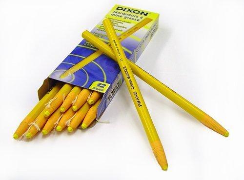 Dixon Phano Peel-Off China Marker Pencils, Yellow, 12-Count (00073) by Dixon -
