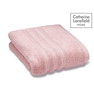 Catherine Lansfield Zero Twist Bath Sheet Pink