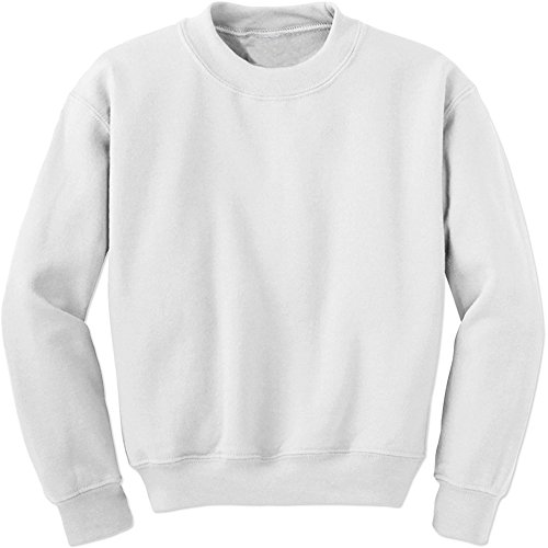 Crew Plain Blank Adult Medium White (Plain White Sweatshirt)