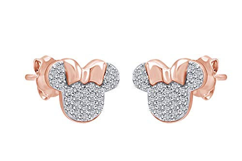 Sparkling White Cubic Zirconia Minnie Mouse Stud Earrings Now $16.04 (Was $38.98)