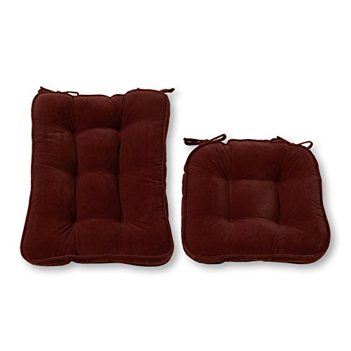 Greendale Home Fashions Standard Rocking Chair Cushion Hyatt fabric, Burgundy (Breakfast Pillows Nook)