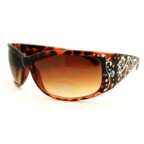 Classic Women's Wrap Around Fashion Sunglasses - - Ladies Sunglasses Wrap Around