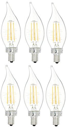 AmazonBasics Commercial Grade LED Light Bulb | 40-Watt Equivalent, BA11, Soft White, Dimmable, 6-Pack