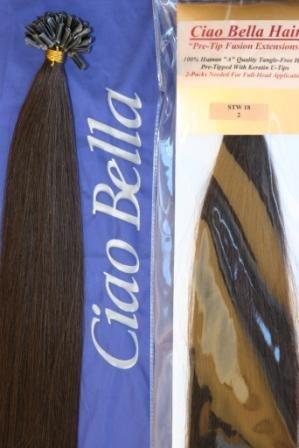 Amazon ciao bella fusion hair extensions straight 18 inches ciao bella fusion hair extensions straight 18 inches color 2 darkest brown pmusecretfo Gallery