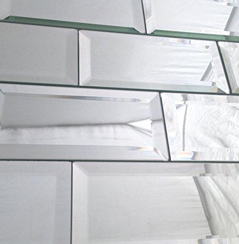 3x6 Wide Beveled Subway Mirror Tile Backsplashes Walls]()