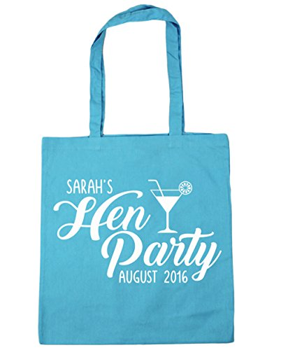 litres Tote and Date x38cm Blue 10 Beach HippoWarehouse Party Gym Name PERSONALISED 42cm Hen Bag Surf Shopping Your pSqFgF0Zn