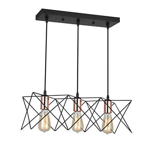 3 Light Black Pendant Light