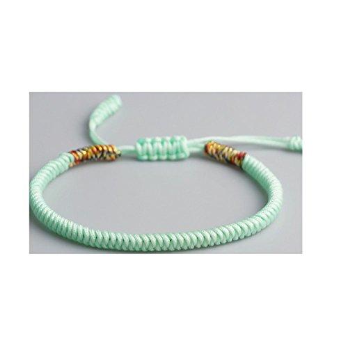 (Tibetan Buddhist Love Lucky Bracelets Bangles Women Men Handmade Knots Rope Budda Bracelet 10)