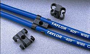 Race Plug (Taylor Cable 42609 Spark Plug Wire Separator; T Clip 409 Pro Race Wire; 4 Per Package; Black;)