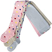 SOFNITA Kids Tights Opaque Cotton Blend Girls Boys and Toddlers Solid Colors and Prints Pants Leggings Seemles