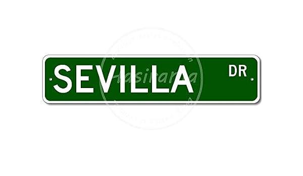 aoeiu Sevilla Street Cartel de Metal Decoración de la Pared ...