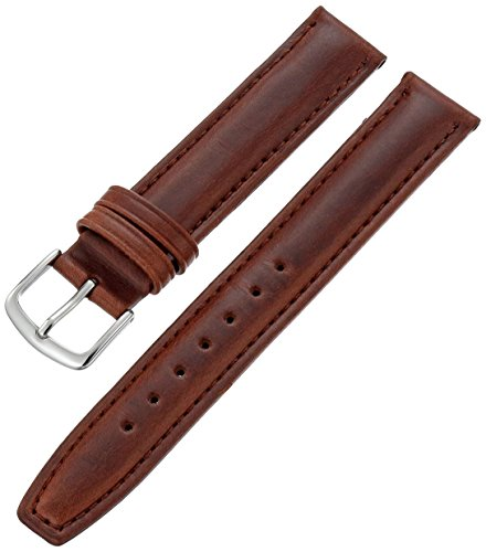 Hadley-Roma Men's MSM881RB-160 16-mm Brown Oil-Tan Leather Watch Strap