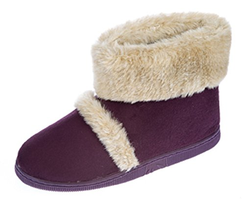 Coolers - Zapatillas de estar por casa de Material Sintético para mujer ciruela