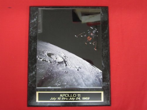 Apollo 11 LEM Collector Plaque w/8x10 VINTAGE COLOR Photo!