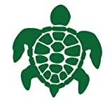 Classic Sea Turtle (Honu) Decal Sticker - Size:4.0 x 3.8 inches - Color:Kelly Green
