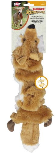 Ethical Pet Plush Skinneeez Bungee Fox Stuffingless Dog Toy