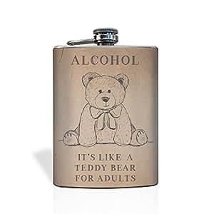 Teddy Bear Flask 8 Oz