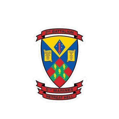 ION Graphics 2nd Battalion 5th Marine Regiment USMC V2 Sticker Die Cut Vinyl Marines Corp 5