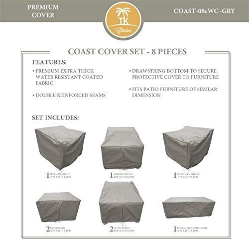 TK Classics COAST-08c Protective Cover Set in Grey