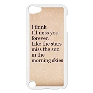 Durable Rubber Cases Ipod Touch 5 White Cell phone Case Slqia Age Quotes Protection Cover