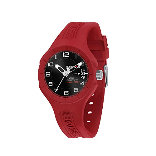 SECTOR Men's Speed Analog-Quartz Sport Watch with Silicone Strap, red, 18 (Model: R3251514011