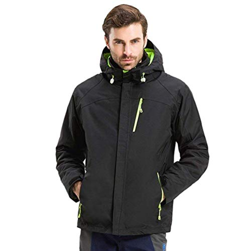 Aire Chaqueta Large Impermeable Libre Forrado Black Jackets Unisex color Mountaineer Softshell Tamaño Fleece Senderismo Travel Al Oudan men 8PqCz