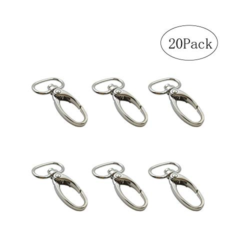Metal Lobster Snap Clasps Silver Swivel Clasp 3/4
