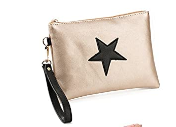 JD Million shop Women Day Clutches Bag Star Design Envelope Ladies Evening Party Bag Soft Leather