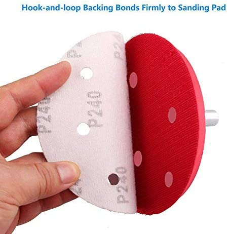 GHKUFH Abrasive Belt 5 Inch 6-Hole Hook and Loop Sanding Discs- 90PCS 40/60/80/100/120/180/240/320/400/800 Grit Assorted Orbital Sander Round Sandpap