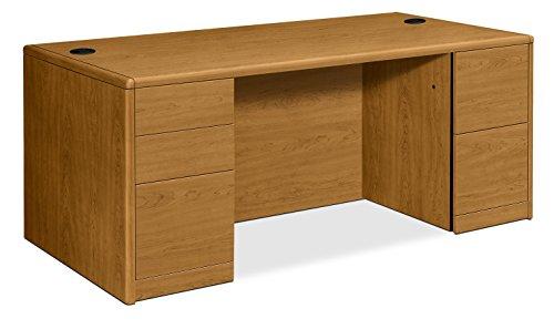 HON 10799CC 10700 Double Pedestal Desk w/Full Height Pedestals 72w x 36d x 29 1/2h Harvest, - Desk Oak Hon Pedestal Company