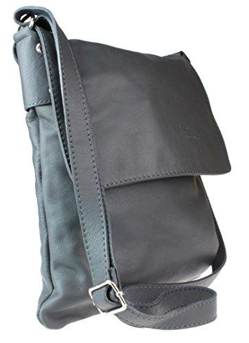 Girly Handbags - Bolso cruzados de Material Sintético para mujer - marrón oscuro