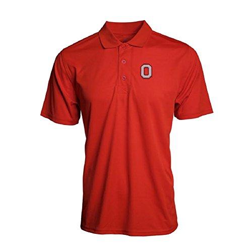 J. America NCAA Men's Ohio State Buckeyes Solid Poly Interlock Golf (Interlock Golf Shirt)