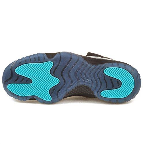 Nike Mens Air Jordan 11 Retro Black Gamma Blue Leather Basketball Shoes Size  10 20723f48f
