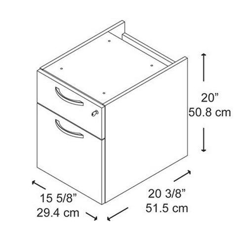 Desk Mount Pedestal w File Cabinet and Drawer - Series C