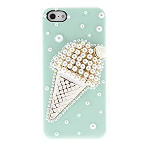 Buy Solid Color Background Pearl Ice Cream Back Case for iPhone 5/5S(Assorted Color) , Green