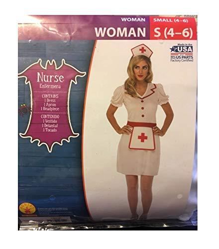 Classic Nurse Adult Woman Costume - Small (4-6) -