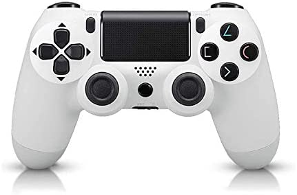 Oriflame-Controllers for PS4,Wireless Joystick Gamepad for PS4 Controller with Dual Vibration and USB Charging Cable - White