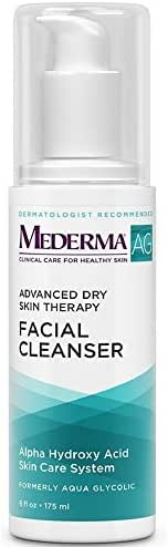 Mederma (Aqua Glycolic) Advanced Dry Skin Therapy Facial Cleanser, 6 oz (Pack of 2)