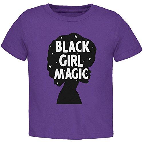 Black History Month Black Girl Magic Afro Toddler T Shirt Purple ()