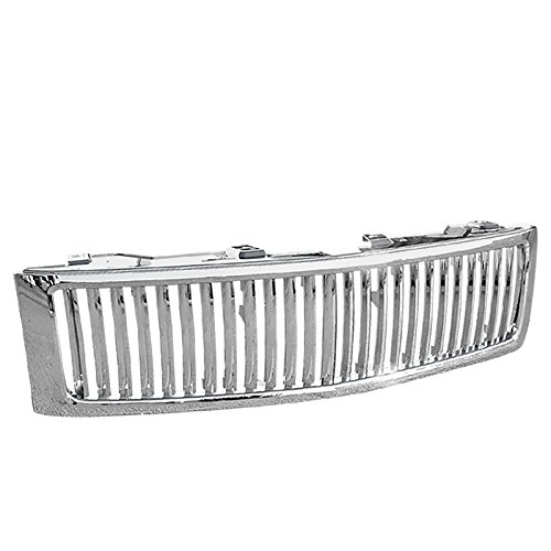 Spec-D Tuning HG-SIV07CVT Chevy Silverado 1500 Lt Ls Pick Up Chrome Vertical Front Grille