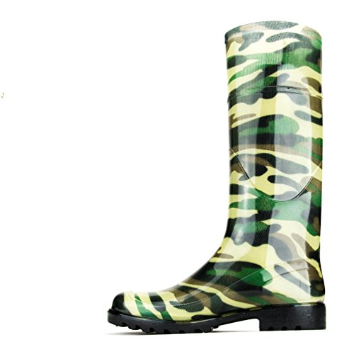 Chemistry Women's Knee-high Jelly Rain Boots Camouflage (7 B(M) US) (Girls Knee High Rain Boots compare prices)