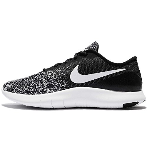 Nike Men's Flex Contact Running Shoes (Black White Size 10 D(M) US)
