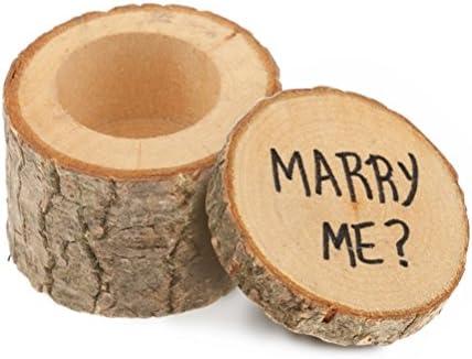 TJW リングケース 木製 ジュエリー収納 ジュエリーケース 指輪ケース リングボックス プロポーズ リング 指輪 ピアス イヤリング 小物 ケース 箱 BOX アクセサリー 用品