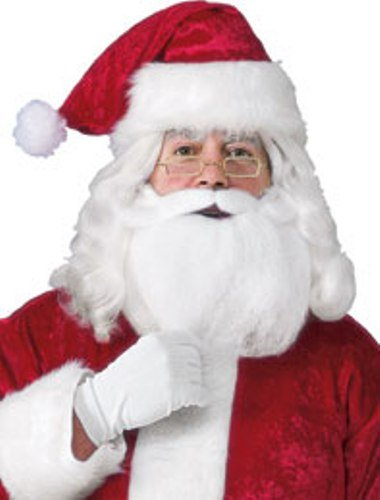 Rubie's Men's Santa Hat With Beard, Wig And Glasses, Red, One Size by Rubie's