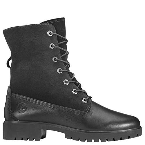 - Timberland Women's Jayne Waterproof Teddy Fleece Fold Down Fashion Boot, Black Full Grain, 10 M US