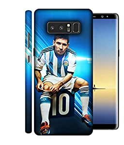ColorKing Football Messi Argentina 06 Blue shell case cover for Samsung Note 8