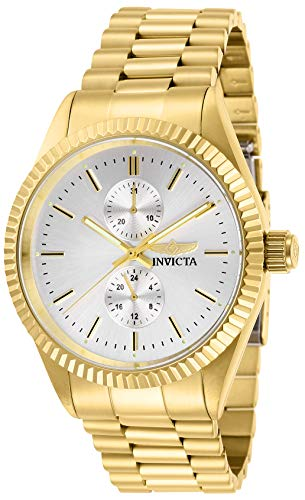 Invicta Men's Specialty Quartz Watch with Stainless Steel Strap, Gold, 22 (Model: 29428)