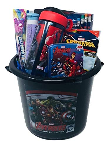 Avengers Activity Gift Basket Bundle with Avengers Water Bottle, Avengers Coloring Book, Avengers Puzzle, Avengers Stickers & More ()